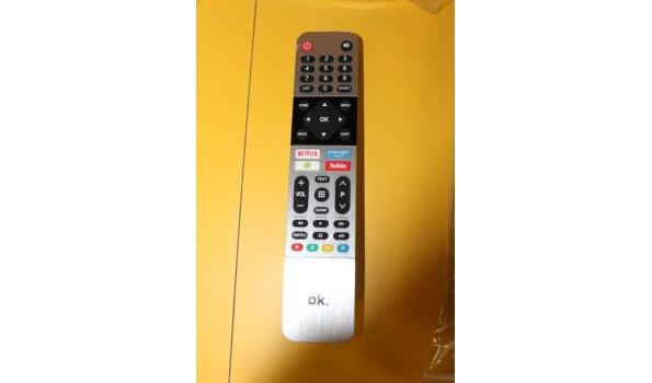 flatscreen led tv OK, type DBV-T2C/S2, met afstandsbediening, bevestigd aan de muur (plm 3m h)