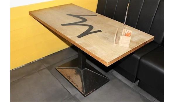 2 rechthoekige tafels, afm plm 122x66cm