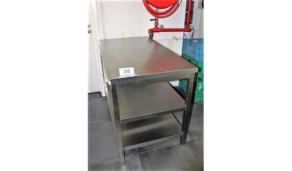 rvs werktafel, afm plm 130x70x88cm