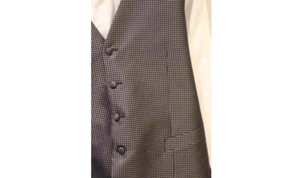 gillet, hemd en strikje CANALI maat 52