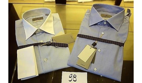 2 hemden CANALI MAAT 42
