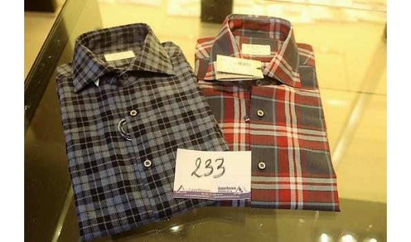 2 hemden GHIRARDELLI m 42