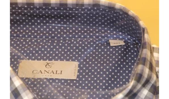 2 hemden GHIRARDELLI 43 en CANALI XXL