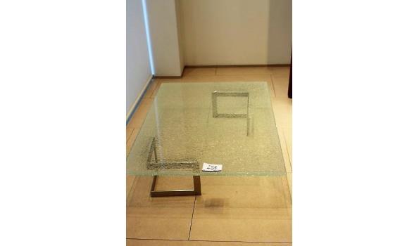 design salontafel vv glazen blad 90x130