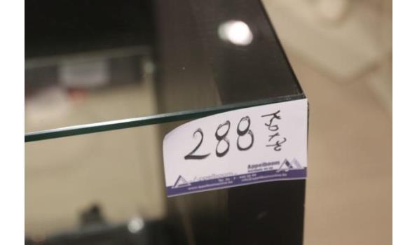 winkelmeubel vv glazen blad en laden 120x70
