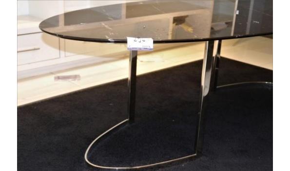 design tafel vv marmeren blad (op 1ste verdieping)